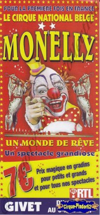 Flyer du Circus Monelly-2007 (n°555)