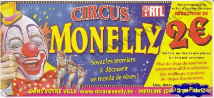 Flyer du Circus Monelly-2007 (n°556)