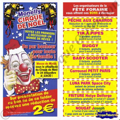 Flyer du Circus Monelly-2008/2009 (n°557)