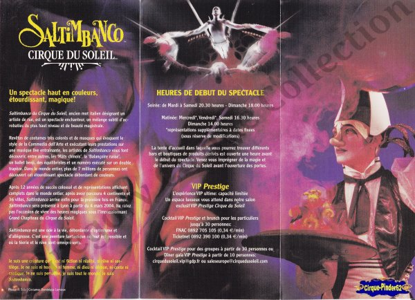 Flyer du Cirque du Soleil-2004 (n°561)