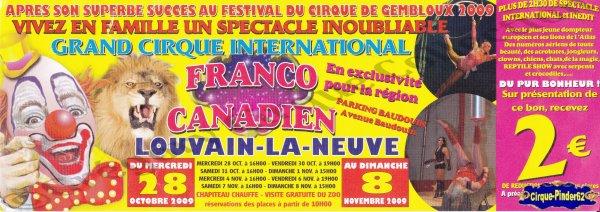 Flyer du Cirque Franco Canadien-2009 (n°574)