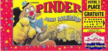Flyer du Cirque Pinder-1999 (n°482)