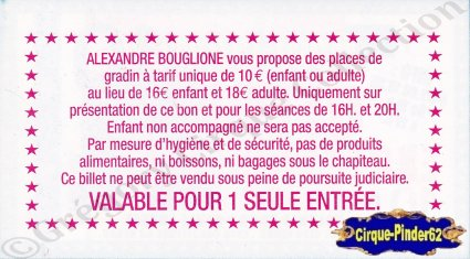 Flyer du Cirque Bouglione (Alexandre) (n°559)