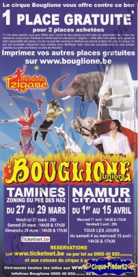 Flyer du Cirque Bouglione (Alexandre)-2009 (n°560)