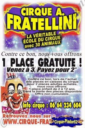 Flyer du Cirque Fratellini (Alain)-2012 (n°487)