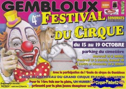 Flyer du Festival du Cirque de Gembloux-2008 (n°542)