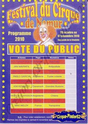 Flyer du Festival du Cirque de Namur-2010 (n°517)