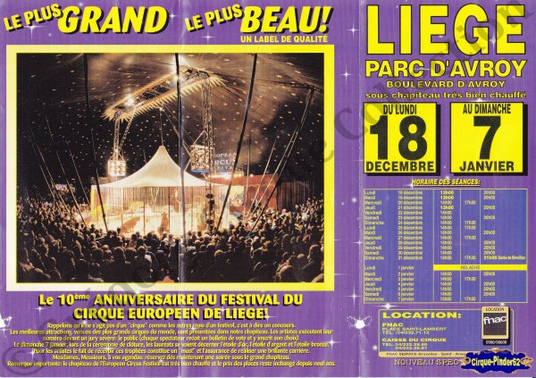 Flyer de l'European Circus Festival-2000/2001 (n°552)
