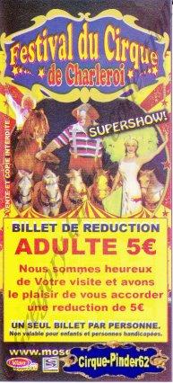 Flyer du Festival du Cirque de Charleroi-2009 (n°532)
