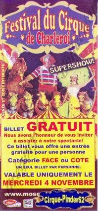 Flyer du Festival du Cirque de Charleroi-2009 (n°531)