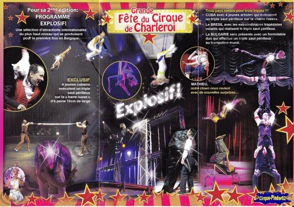 Flyer de La Grande Fête du Cirque de Charleroi-2013 (n°534)