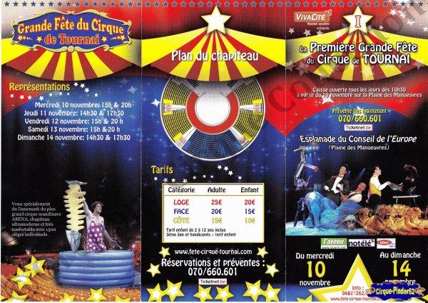 Flyer de La Grande Fête du Cirque de Tournai-2010 (n°545)