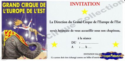 Flyer du Grand Cirque de l'Europe de l'Est (n°292)