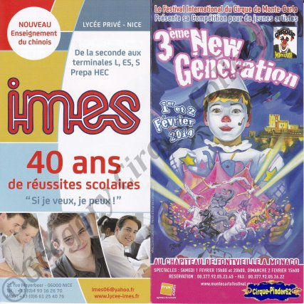 Flyer du Festival New Generation-2014 (n°585)