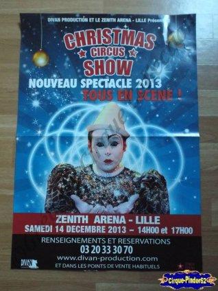 Affiche magasin du Cirque de Noël (Christmas Circus Show)-2013 (n°266)