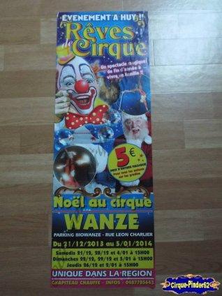 Affiche magasin du Cirque de Noël (Cirque de Noël de Wanze)-2013/2014 (n°271)