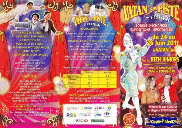 Flyer du Festival du Cirque de Vatan-2011 (n°615)