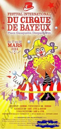Flyer du Festival International du Cirque de Bayeux-2011 (n°614)