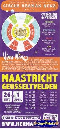 Flyer du Cirque Renz (Circus Herman Renz)-2013 (n°665)