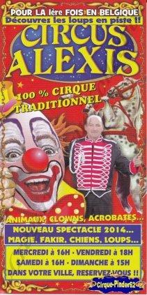 Flyer du Circus Alexis-2014 (n°669)
