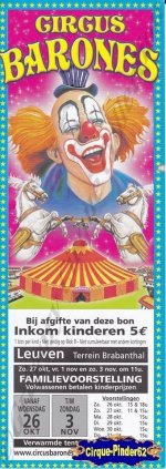 Flyer du Circus Barones-2013 (n°663)