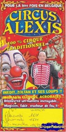 Flyer du Circus Alexis-2013 (n°697)