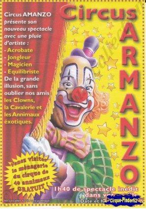 Flyer du Circus Armanzo (n°698)