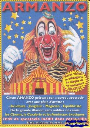 Flyer du Circus Armanzo (n°699)