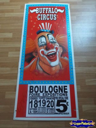 Affiche plastique du Buffalo Circus- (n°32)