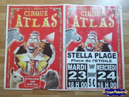 Affiche carton du Cirque Atlas-2013 (n°233)