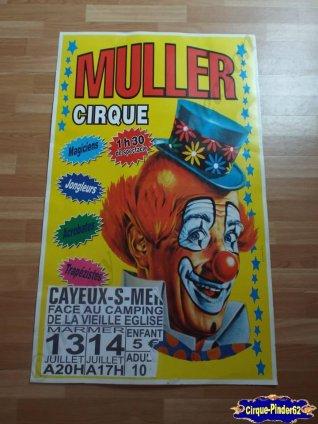 Affiche carton du Cirque Muller (n°46)