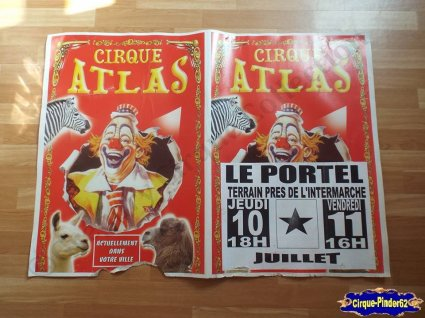 Affiche carton du Cirque Atlas-2014 (n°335)