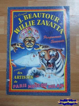 Programme du Cirque Jacky Beautour et Willie Zavatta (n°4)