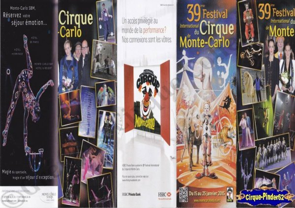 Flyer du Festival International du Cirque de Monté-Carlo-2015 (n°760)