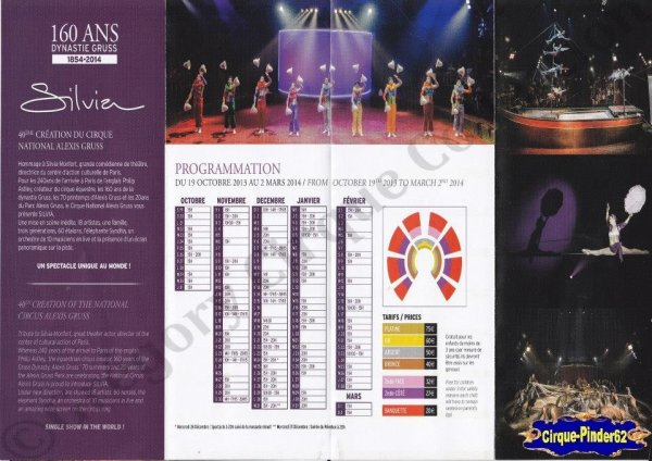 Flyer du Cirque Gruss (Alexis)-2013/2014 (n°640)