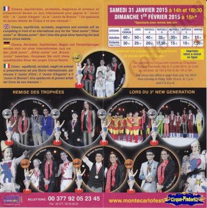 Flyer du Festival New Generation-2015 (n°761)