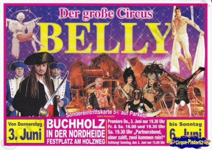 Flyer du Cirque Belly (Circus Belly) (n°752)