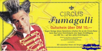 Flyer du Circus Fumagali (n°750)