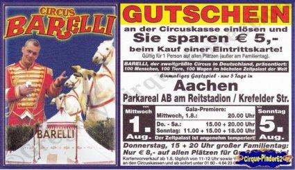Flyer du Circus Barelli (n°751)