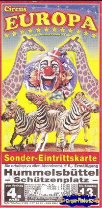 Flyer du Cirque Europa (Circus Europa) (n°748)
