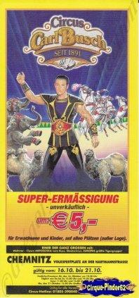 Flyer du Cirque Busch (Carl) (n°744)