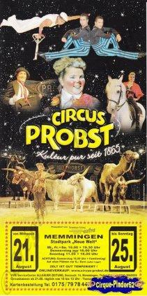 Flyer du Cirque Probst (Circus Probst)-2013 (n°743)