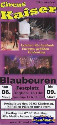 Flyer du Circus Kaiser-2014 (n°749)