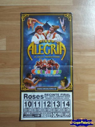 Affiche magasin du Circo Alegria-2014 (n°349)