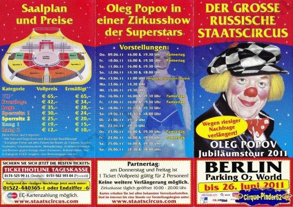 Flyer du Der Grosse Russische Staatscircus-2011 (n°771)