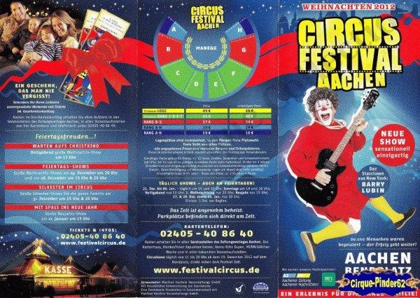 Flyer du Circus Festival Aachen-2012/2013 (n°770)