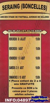 Flyer du Cirque Imperial  (Cirque Imperial) (n°772)