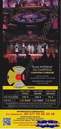 Flyer du Circus Dinner Show-2014 (n°762)