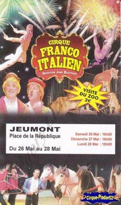 Flyer du Cirque Franco Italien-2012 (n°813)