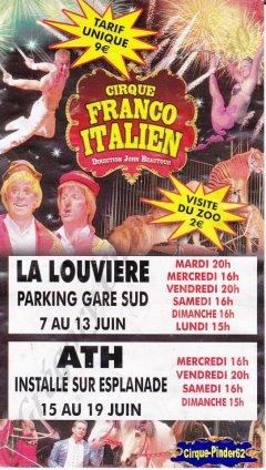 Flyer du Cirque Franco Italien (n°814)
